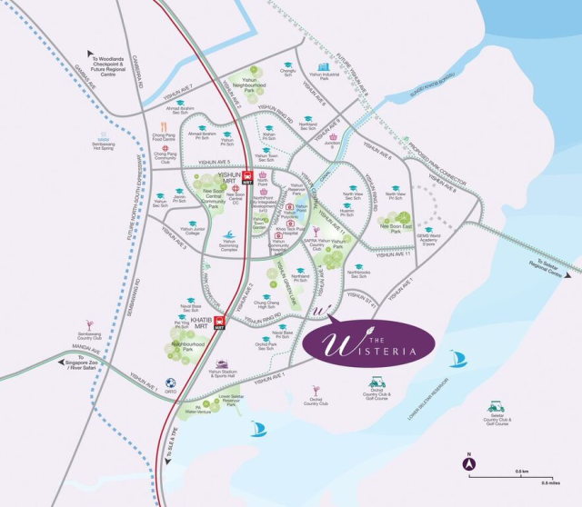 The Wisteria location map